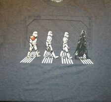 STAR WARS DARTH VADER STORMTROOPERS ABBEY ROAD THE BEATLES T-SHIRT L LARGENEW