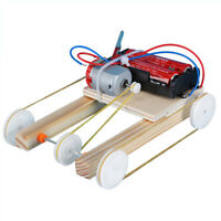 Wooden DIY Electric Car Model Physic Science Assembly Model Kit Educational