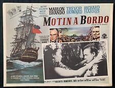 MUTINY ON THE BOUNTY Marlon Brando MEXICAN LOBBY CARD 1962