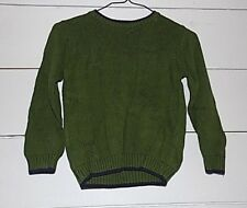 Greendog Boys Sweater long sleeve Size 5 Green and Navy Blue cotton