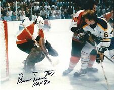 "Autographed 8x10 BERNIE PARENT ""HOF 84"" Philadelphia Flyers photo w Show Ticket"
