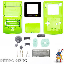 Gameboy Color Gehäuse Display Game Boy Batterie Deckel Tasten Case Shell grün