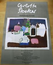 SWISS EXHIBITION XXL POSTER 1973 - CARLOTTA STOCKER - art print helmhaus zürich