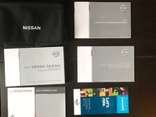 New listing 2017 Nissan Versa Sedan Owners Manual With Case Oem Free Shipping
