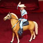 Hartland Plastics Roy Rogers on Horse Trigger- w 2 Pistols, Hat, and Saddle 1954