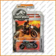 """Matchbox """"Jurassic World"""" - '15 TRIUMPH SCRAMBLER - Brand New, Card Not Perfect"""