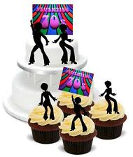 NOVELTY 70's PACK A 2 Large 12 Cupcake STAND UP Cake Toppers Seventies Birthday