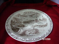 Vintage Collectible Pennsylvania Turnpike Howard Johnson's Ceramic Plate- 1025""