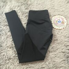 Onzie NWT Track Mesh Inset Leggings Hot Yoga S M Black Workout Pants