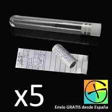 Pack 5 tubos plastico tapon contenedor estanco Geocaching geo geocache caches