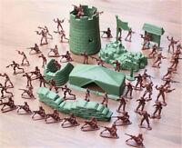 100X 4cm Armee-Kampf Männer Plastiksoldaten Figur AktionKid-Geschenk-SpielzeRSxj