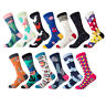 New Mens Cotton Socks Novelty Colorful Funny Male Creative Dress Wedding Socks