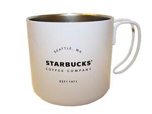 Starbucks Steel Camping Mug Stainless Steel 2016 Cup, Camping Gatherings 12 oz.