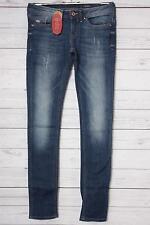 edc by ESPRIT Damen Skinny Jeans Skin 994CC1B922, Gr. W26/L32, Blau