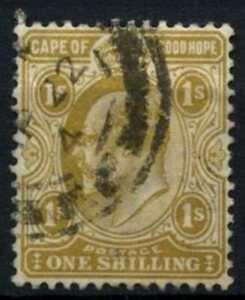 Cape Of Good Hope 1902-4 SG#77, 1s Yellow-Bistre KEVII Used #D69445
