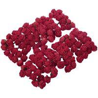 144pcs 2CM PE Rose Foam Mini Flower Bouquet Solid Color/wedding decoration H3N2