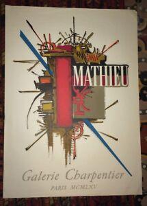 Georges MATHIEU  Georges MATHIEU Symboles, 1965  Lithographie originale .