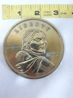 "Vtg 3"" Giant Novelty Fake US Sacagawea Liberty Dollar Coin Paperweight"