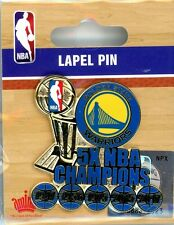 Warriors 5-Time NBA Finals Champions Pin Golden State champs Finals 5x AMINCO