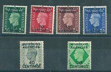 Morocco Agencies 1937 SG 165-70 MM