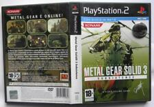 METAL GEAR SOLID 3 SUBSISTENCE PLAYSTATION 2 PAL ITA COME NUOVO