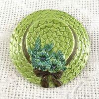 Vintage Lefton Green Hanging Sun Hat Planter Glazed Ceramic Made in Japan