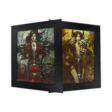 3 Dimension 3D Lenticular Picture Asian Witch Skull Dark Magic Wing Demon Hornf