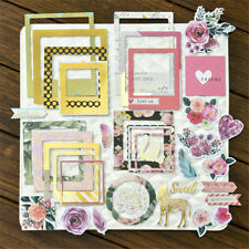 New listing 32pcs photo love flowers frames cardstock die cut for scrapbooking/photo deco ^*