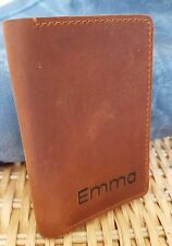 Mens Leather Wallet FREE Personalization Minimalist Brown Slim Purse Handmade