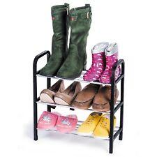 Scarpiera robusta porta scarpe scaffale in metallo e polipropilene a tre ripiani