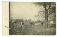 RPPC View of LOTTSVILLE PA from the Cemetery Warren County Real Photo Postcard