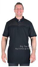 Big Mens Black D555 Jauram Polo Shirt Sizes 3XL to 8XL