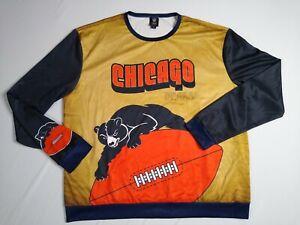 Chicago Bears size 2XL Team apparel long sleeve shirt Vintage logo bear UNIQUE