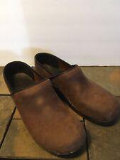 Sanita The Original Danish Professional Clogs Brown Leather Mens Sz 47 EUR US 14