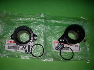 * Yamaha SRX600 SRX 600 Vergaser Gummi Ansaugstutzen Paar pair joint carburetor