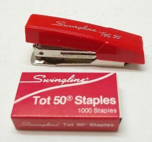 Swingline Tot 50 Red Stapler Kit w/1000 Staples New See Description