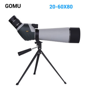 20-60x80 Zoom Spotting Scope FMC Lens Bak4 Prism Monocular Telescope with Tripod