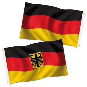 Deutschland Fahnen 2er Set Fahne Flagge mit Ösen 90x150 cm Hissfahne Hissflagge