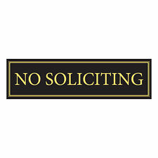 """No Soliciting Door Magnet - The """"No Soliciting"""" Sign For Metal Doors and"""