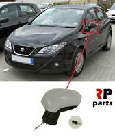 FOR SEAT IBIZA 2008 - 2017 NEW WING MIRROR MANUAL PRIMED LEFT N/S LHD