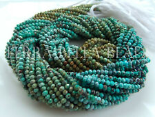 """12.5"""" ARIZONA TURQUOISE faceted gem stone rondelle beads 2mm - 2.5mm blue green"""
