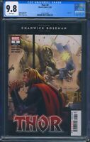 Thor 8 (Marvel) CGC 9.8 White Pages Donny Cates story Chadwick Boseman tribute