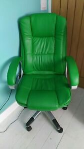 Executive style high back padded office chair, adjustable height and swivel base