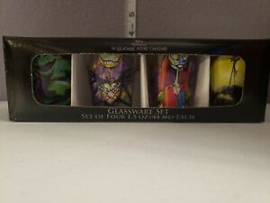 DISNEY'S THE NIGHTMARE BEFORE CHRISTMAS 1.5oz Glassware Set 4 Shot Glasses