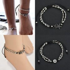 Chain Barefoot Sandal Beach Jewelry Retro Starfish Leather Rope Anklet Bracelet