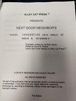 David Neighbors Lecture Notes Autographed NEXT DOOR NEIGHBORS