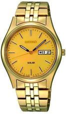 Seiko Men's Gold Plated Strap Round Wristwatches