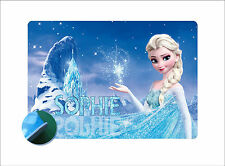 Personalised Frozen Elsa Place mat - Easy Wipe Clean EVA Sponge Rubber Backed