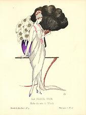 Gazette Du Bon Ton LA FLEUR D'OR Zyg Brunner Fashion POCHOIR Art Deco