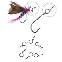 50 Stück Fliegenfischen Snap Quick Change für Fliegen Connector Lure Haken R2L5
